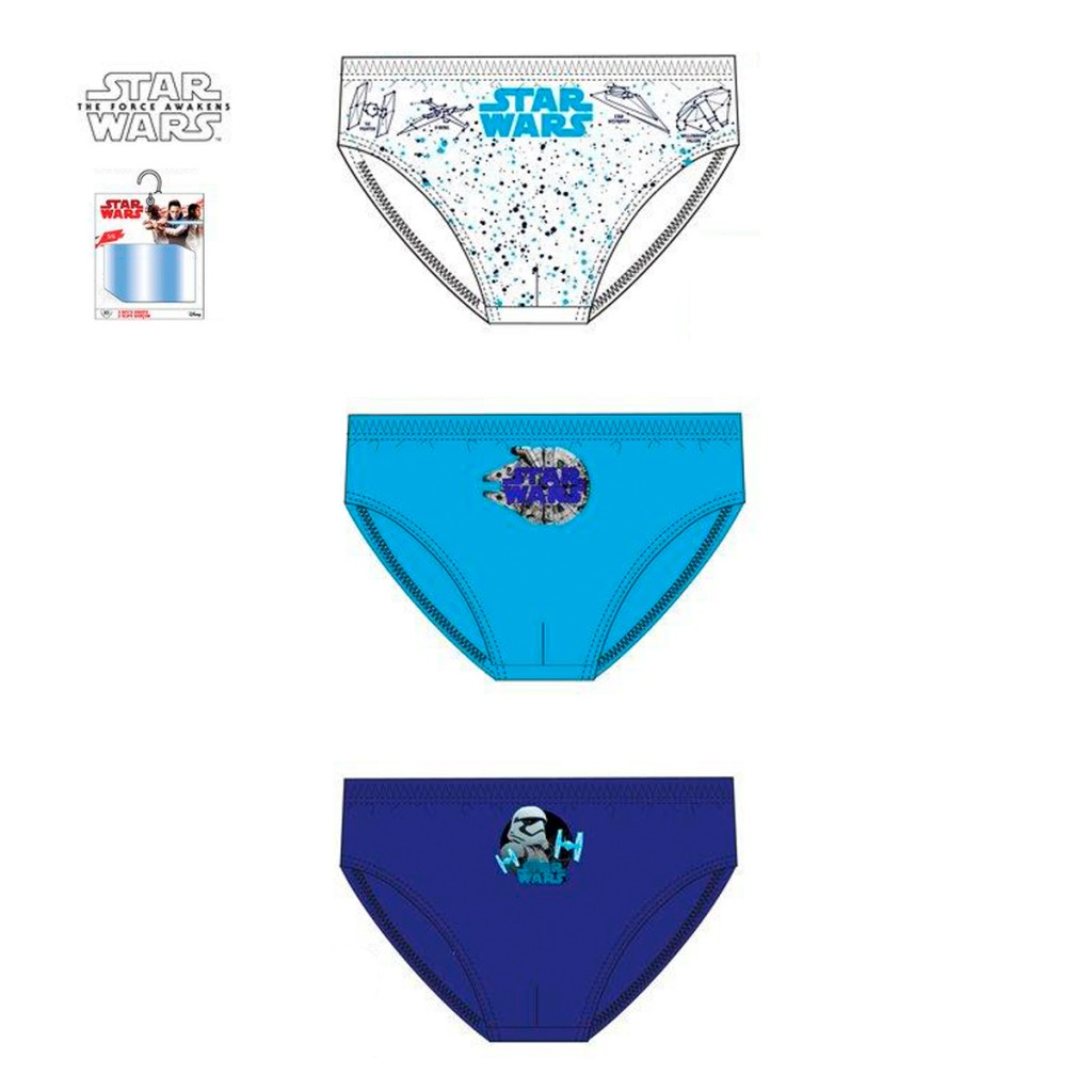 Pack x3 Slips infantiles Star Wars