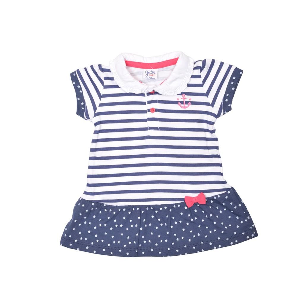 762674d02 Yatsi 19171184 Vestido bebe de algodon manga corta