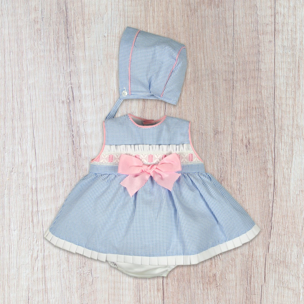 c6e906ff2 Baby Ferr 10016 Vestido de bebé con braguita y capota