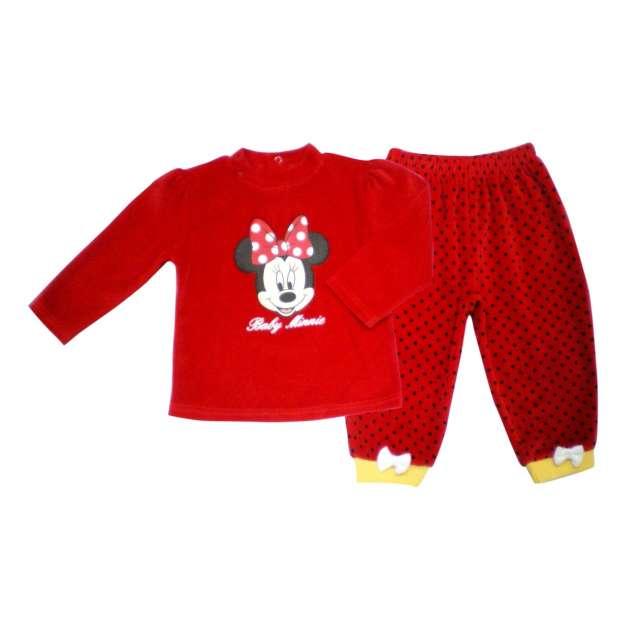 1716ca1de89b Pijama niña tundosado abierto espalda Minnie. M03122; Licencias Varias