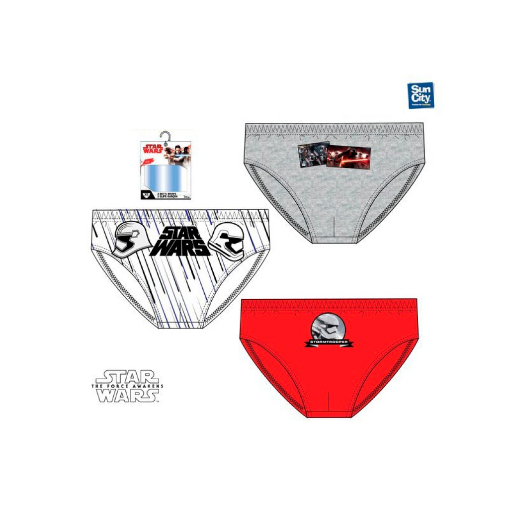Slips niño X3 estampados Star Wars