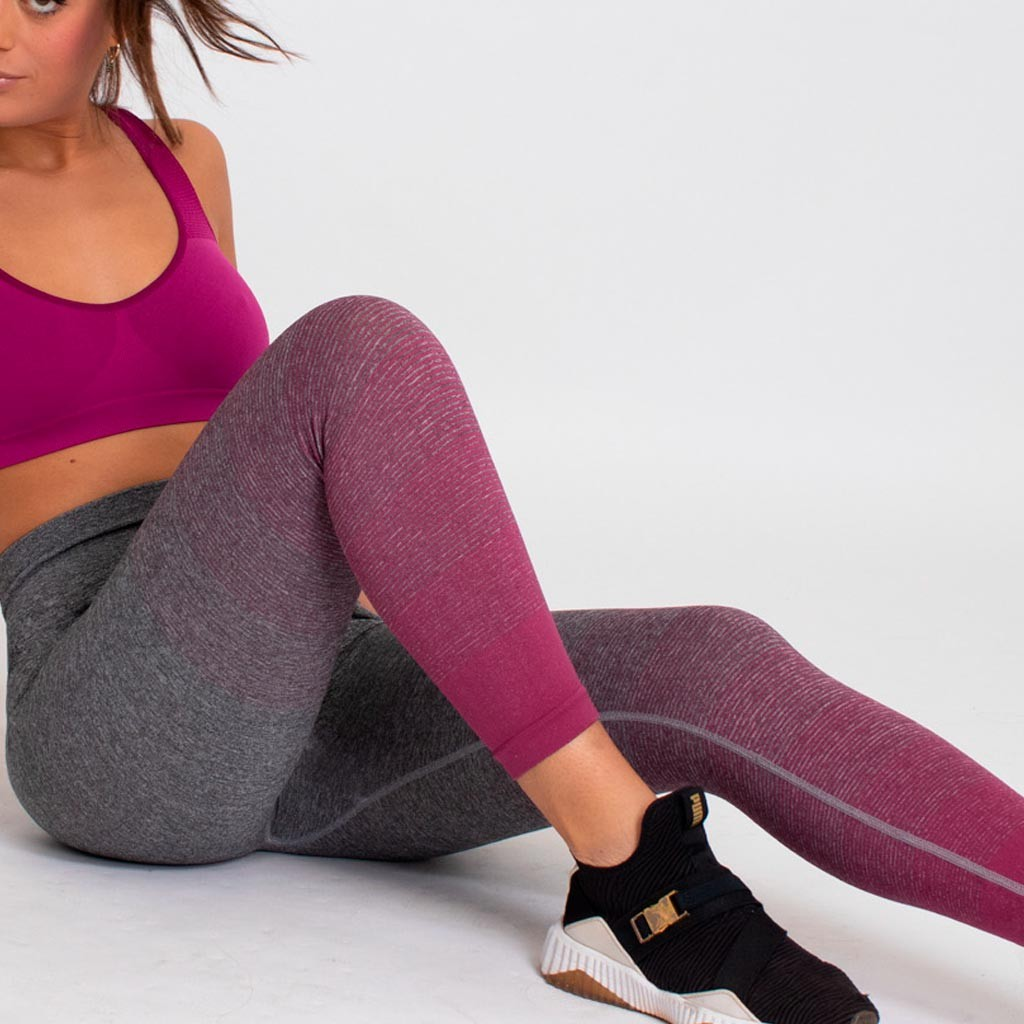 Leggings deportivo largo seamless degradee