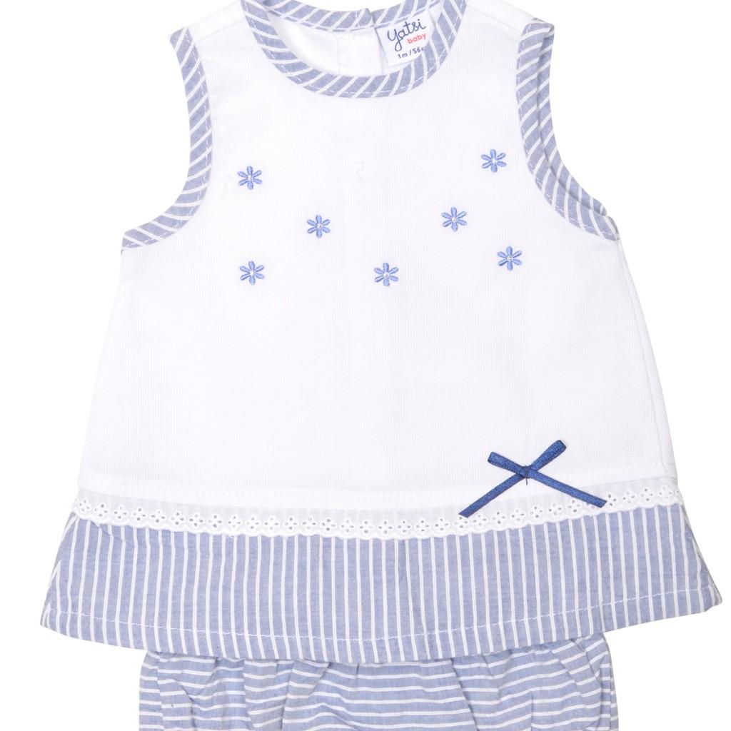 5b6e2a56a Vestido bebe con braga a juego para recien nacido Yatsi