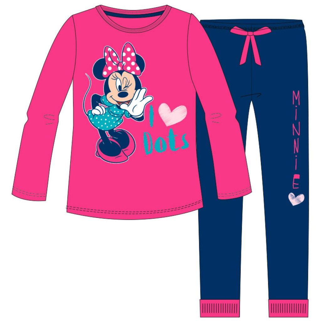 3381500f9590 Pijama niña algodón detalles Minnie. T051000; Licencias Varias